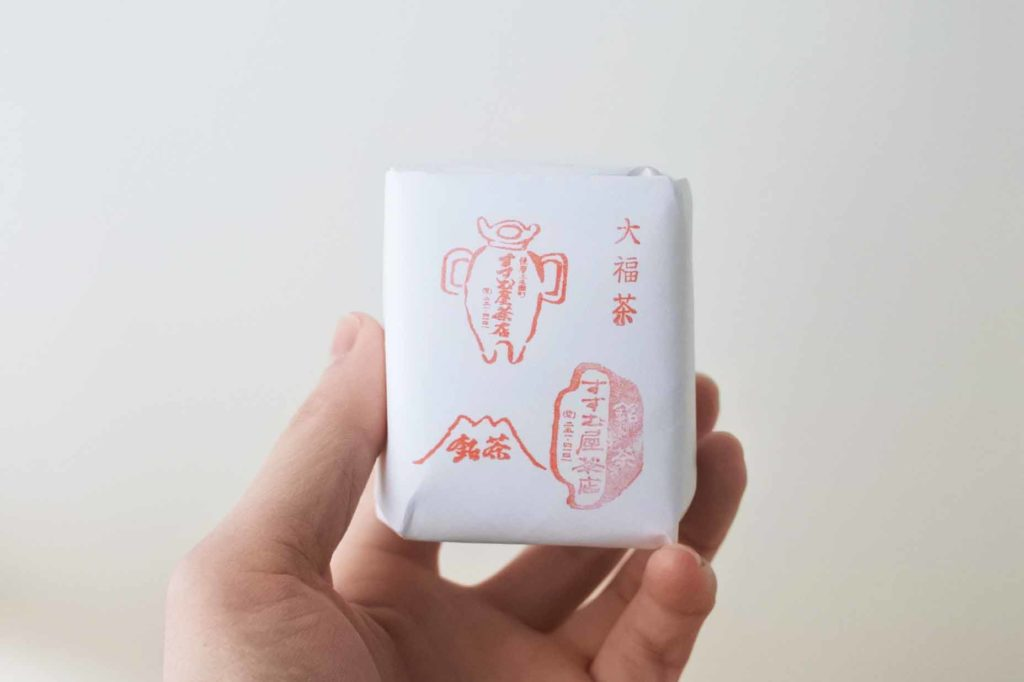 すすむ屋茶店の大福茶1